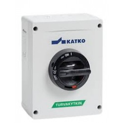 KEM 380U Safety switch 3 pole_ 144x190x131mm_ 80A_ 45kW_ M32 läbiviik 2tk_ IP66
