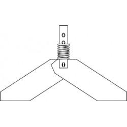 Hingedega tiivik tasemeandur RN 3000/4000-le_ metall 1.4404_ 98x200mm