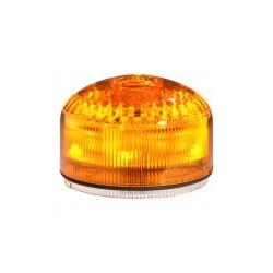 MLINE SIR-E LED JUNIOR helisignaal + signaaltuli_ oranž_ 12/24DC (120/240AC alusega 90827)_ vilkuv või põlev_ 100dB_ 16 tooni