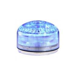 MLINE SIR-E LED helisignaal + signaaltuli_ sinine_ 12/24DC (120/240AC alusega 90369)_ vilkuv või põlev_ 105dB_ 64 tooni_ IP65