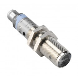 S50-MA-5-B01-PP fotoandur, 10-30DC, M18 metallkorpus, reflektorilt peegelduv, polariseeritud LED, axial, 0,1...4,5m, PNP, NO/NC,