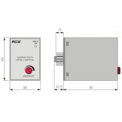 CL1001/O Level controller , 220AC, -20C...+60C