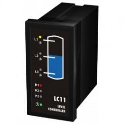 LC11 vedelike tasemekontroller, 230AC, kuni 3 taset, relee 3xNO/NC, 48x96mm