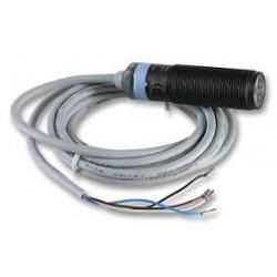 S51-PA-2-F00-PK fotoandur, 10-30DC, M18 plastkorpus, vastuvõtja, LED, axial, 0,1...10m, PNP, NO/NC, 2m juhe