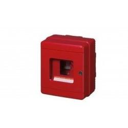 EC64004 luugiga hädaabikilp, 170x150x100mm, pinnapealne, ABS, punane, läbipaistev kaas, lukuga, 1x4 moodulit, IP65