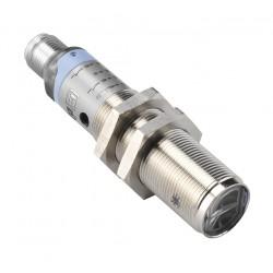 S51-MA-5-B01-PK fotoandur, 10-30DC, M18 metallkorpus, reflektorilt peegelduv, polariseeritud LED, axial, 0,1...3m, PNP, NO/NC, M