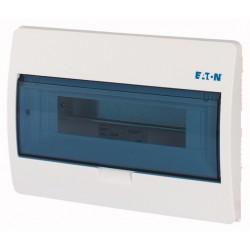 BC-U-1/12-ECO luugiga plastkilp, 212x303x105mm, süvistatav, ABS, valge, läbipaistev kaas, 1x12 moodulit, IP40