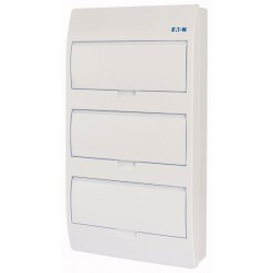 BC-O-3/36-TW-ECO modular enclosure, 550x303x93mm, wall mounting, ABS, white, 3x12 modules, IP40