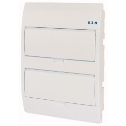 BC-U-2/24-TW-ECO modular enclosure, 406x303x103mm, flush mounting, ABS, white, 2x12 modules, IP40