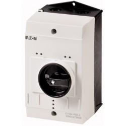 CI-K2-PKZ0-G plastkarp, K*L*S 181*100*130mm, pinnapealne, hall/must, IP65, käepidemega, PKZM0 jaoks