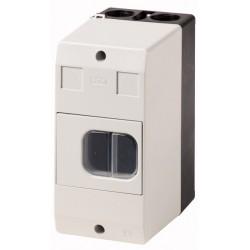 CI-PKZ01-G plastkarp (mini), K*L*S 158*80*116.5mm, pinnapealne, hall/must, IP65, membraaniga, PKZM01 jaoks