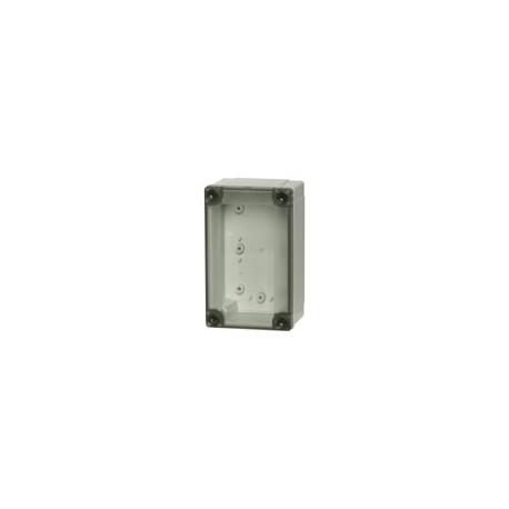 A 100H plastkarbi alaosa, 130x80x50mm, polükarbonaat, hall