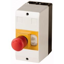CI-PKZ01-PVT plastkarp (mini), K*L*S 158*80*177.2mm, pinnapealne, hall/must, IP65, membraaniga, Hädastopp-nupuga, PKZM01 jaoks