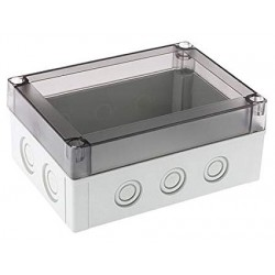 II 150/10 T enclosure cover, 180x130x10mm, polycarbonate, transparent