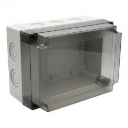 II 150/25 T plastkarbi kaas, 180x130x25mm, polükarbonaat, läbipaistev