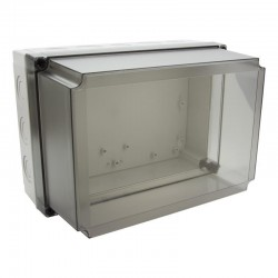 II 150/50 T enclosure cover, 180x130x50mm, polycarbonate, transparent