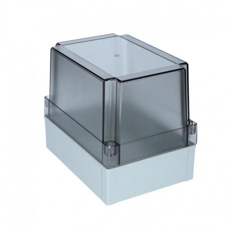 II 150/75 T plastkarbi kaas, 180x130x75mm, polükarbonaat, läbipaistev