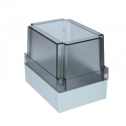 II 150/100 T enclosure cover, 180x130x100mm, polycarbonate, transparent