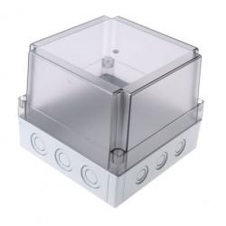 II 175/50 T plastkarbi kaas, 180x180x75mm, polükarbonaat, läbipaistev