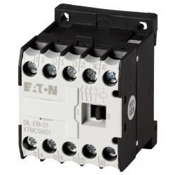 DILEM-01(230V50HZ,240V60HZ) minikontaktor, 400V@4kW(3P) + 230V@6A(1NC), kruviklemmid