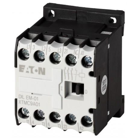 DILEM-10-C(230V50/60HZ) minikontaktor, 400V@4kW(3P) + 230V@6A(1NO), vedruklemmid