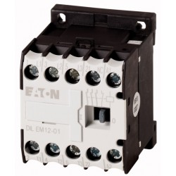DILEM12-01(230V50HZ,240V60HZ) minikontaktor, 400V@5.5kW(3P) + 230V@6A(1NC), kruviklemmid