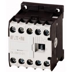 DILEM12-10-G(24VDC) minikontaktor, 400V@5.5kW(3P) + 230V@6A(1NC), kruviklemmid