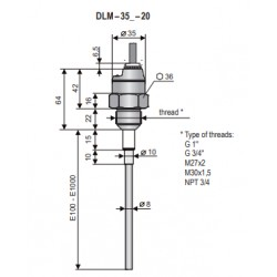 DLM-35N-20-G3/4-I-A-E1000-K2-