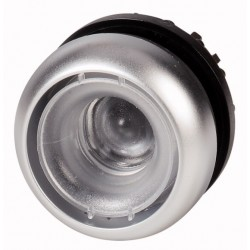 M22-D-X surunupp, tagastuv, valgustuseta, ilma katteta, hõbedase rõngaga