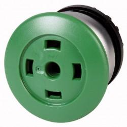 """M22-DP-G-X roheline surunupp, """"seen"""", tagastuv, ilma plaadikatteta, hõbedase rõngaga"""
