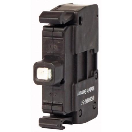 M22-CLED-B sinine LED-valgus, 12-30AC/DC, eestkinnitusega, vedruklemmi ühendus
