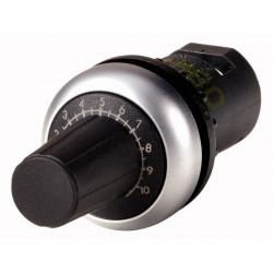M22-R2K2-X1000-RH potentsiomeeter, 2,2kΩ, hõbedase rõngaga, IP66