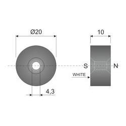 M-20 magnet, Ø20x10mm