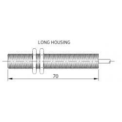 SM14 magnetandur, kuni 230AC/DC, Ø12mm, metallkorpus 70mm, 3-juhtmeline, power NO/NC, 2m juhe, IP67