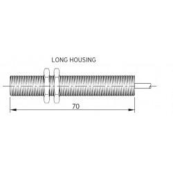 SM13 magnetandur, kuni 230AC/DC, Ø12mm, metallkorpus 70mm, 2-juhtmeline, power NO, 2m juhe, IP67