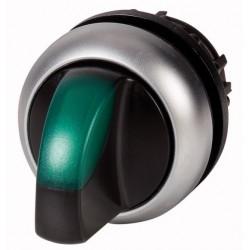"""M22-WLKV-G roheline pöördlüliti, """"V"""" asendis, fikseeruv, kahepositsiooniline, hõbedase rõngaga"""