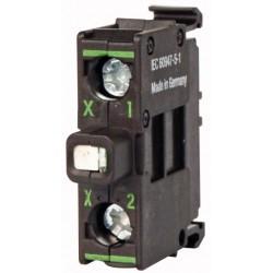 M22-LEDC-G roheline LED-valgus, 12-30AC/DC, põhjakinnitusega, kruviklemmi ühendus