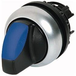 M22-WLK3-B sinine pöördlüliti, 40°, tagastuv, kolmepositsiooniline, hõbedase rõngaga