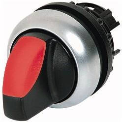 M22-WLK3-R punane pöördlüliti, 40°, tagastuv, kolmepositsiooniline, hõbedase rõngaga