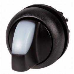M22S-WLK-W valge pöördlüliti, 40°, tagastuv, kahepositsiooniline, musta rõngaga
