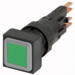 Q25LT-GN kandiline surunupp, roheline, läbip., tagastuv, 25*25mm, ilma pirnita