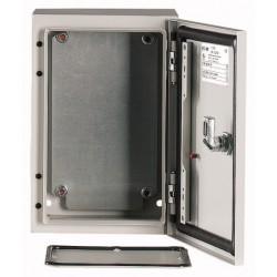 CS-32/150 metallkilp, K*L*S 300*200*150mm, pinnapealne, lehtteras, helehall, 1 lukk, IP66, montaažiplaadiga