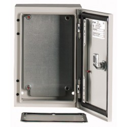 CS-54/250 metallkilp, K*L*S 500*400*250mm, pinnapealne, lehtteras, helehall, 2 lukku, IP66, montaažiplaadiga