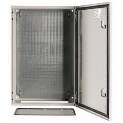 CS-64/200 metallkilp, K*L*S 600*400*200mm, pinnapealne, lehtteras, helehall, 2 lukku, IP66, montaažiplaadiga