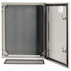 CS-43/200 metallkilp, K*L*S 400*300*200mm, pinnapealne, lehtteras, helehall, 1 lukk, IP66, montaažiplaadiga