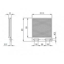 R7 reflector rrx laser 51x61mm