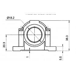 SWING-18 plastikust M18 andurite kinnitus
