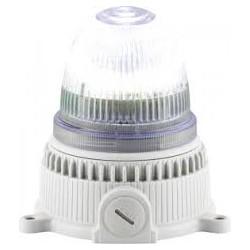 OVOLUX LED M signaaltuli, valge, 90/240AC, vilkuv või põlev, hall korpus, IP65