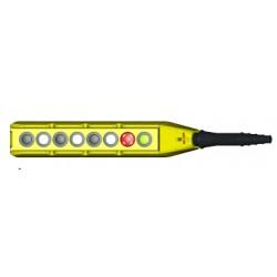 PL07D6/E telfri juhtpult, 6-nupuline + avariistopp, kahekiiruseline, üherealine, IP65