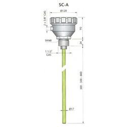 SC-A300 mahtuvusandur, 24AC, alumiinuim, L,300mm